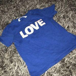Unisex H&M LOVE T-Shirt 1-2 years.